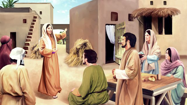 The Samaritan woman saw the Lord Jesus