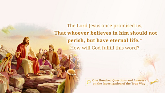 whoever believes in him should not perish, but have everlasting life