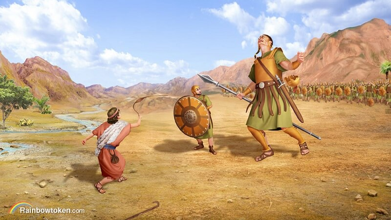 David fights Goliath