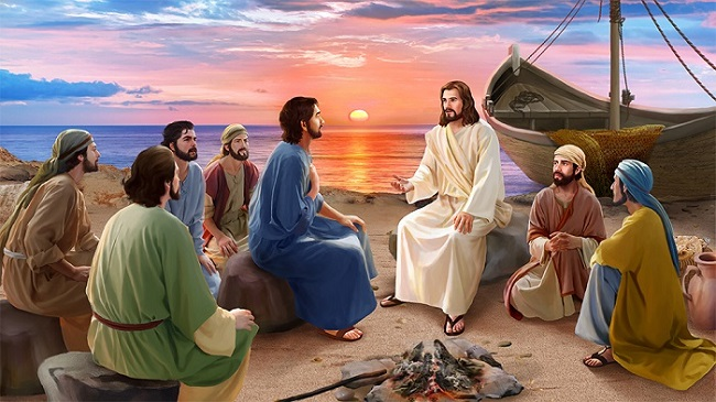 Image result for john 21 peter and jesus