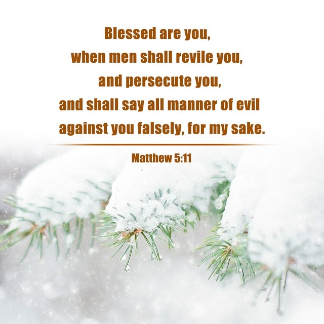 Blessed Are You, When Men Shall Revile You — Matthew 5:11