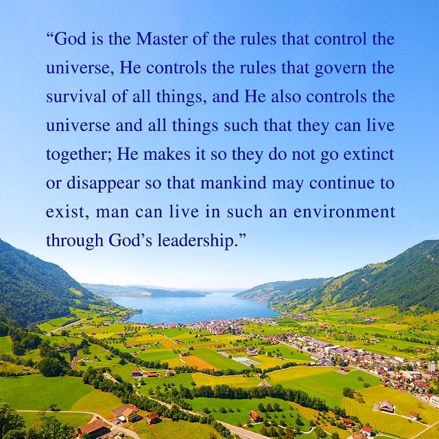God is the master of the rules of that control the universe