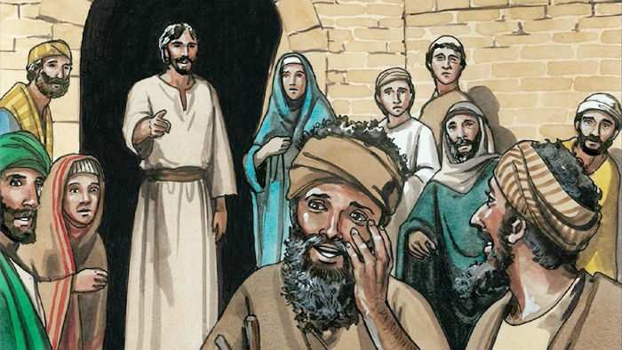 Jesus Heals Two Blind Men and a Mute Man - Bible Story