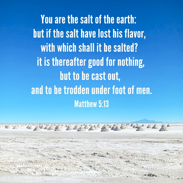 Living as the Salt of the Earth — Matthew 5:13