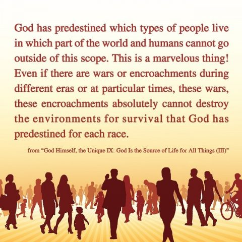God has predestined for each race