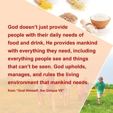 God provides mankind with everything they need