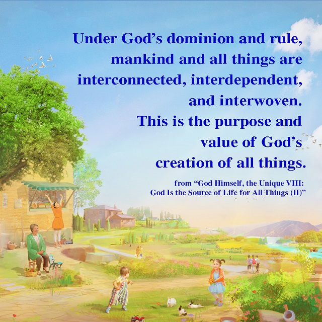 under God's dominion and rule