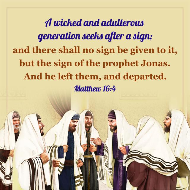 Bible verse – Matthew 16:4