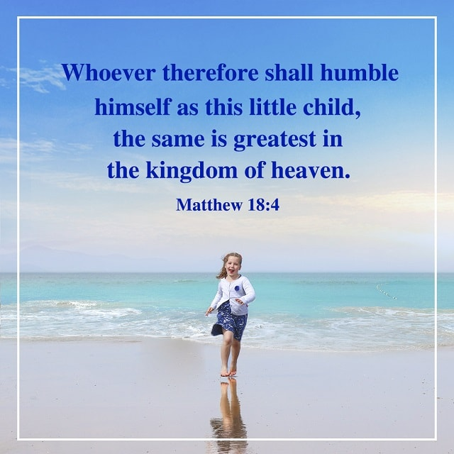 Humble Himself as This Little Child - Matthew 18:4