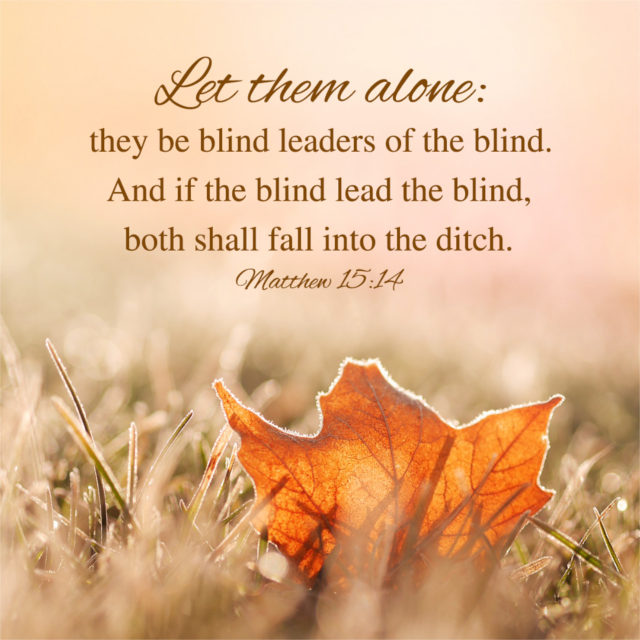Let them alone they be blind leaders of the blind