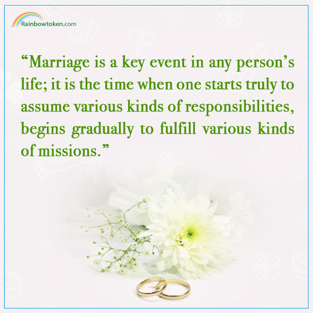 Marriage is a key event in any person's life