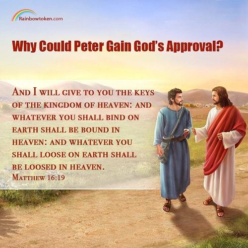 Matthew 16:15-19 - Peter recognized Jesus as Christ