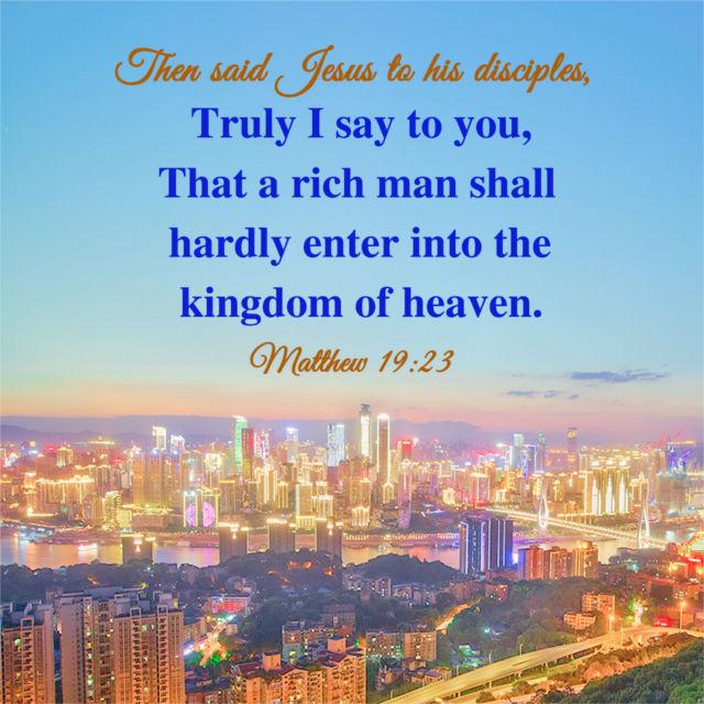Bible Verse — Matthew 19:23