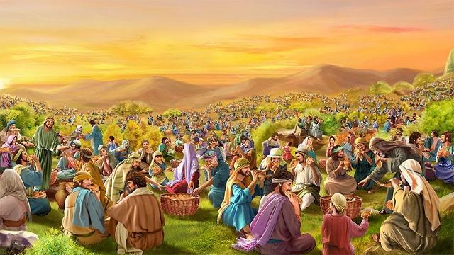Those five thousand people in John 6 8-13