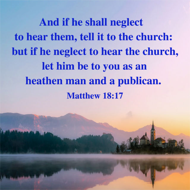 As an Heathen Man and a Publican — Matthew 18:17