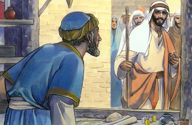 Bible Story - Jesus Calls Matthew - Matthew 9:9-13