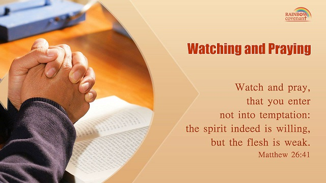 Matthew 26:41 - Watch and pray, that you enter not into temptation: the spirit indeed is willing, but the flesh is weak.