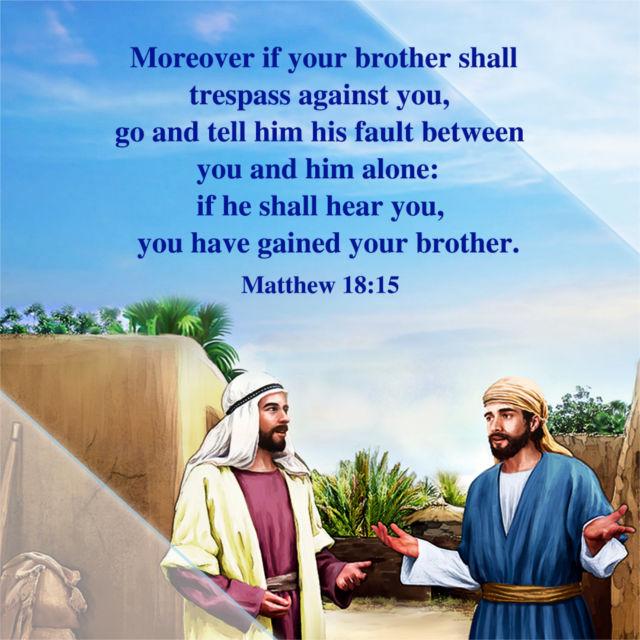 Bible verse – Matthew 18:15