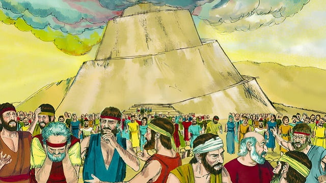 Tower Babel - Bible Story, scatter abroad on the earth