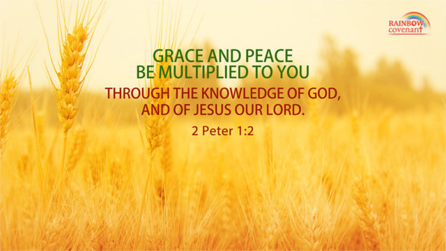 But Grow in Grace, and In the Knowledge of Our Lord and Savior Jesus Christ