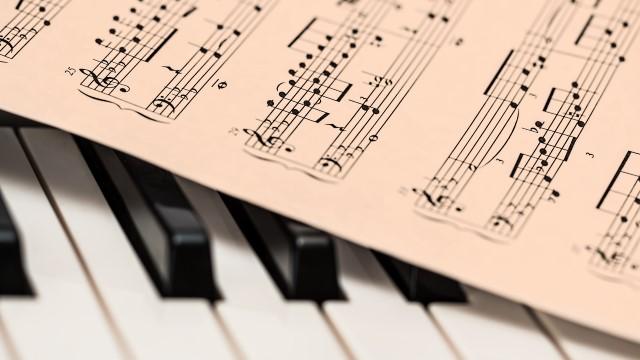 score and piano