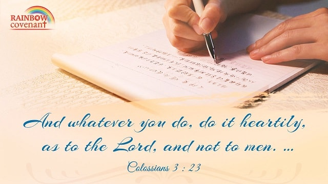 Bible Verses—Do it Heartily, as to the Lord