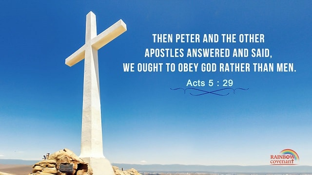 Bible Verses About Obeying God - Obey God Rather Than Men