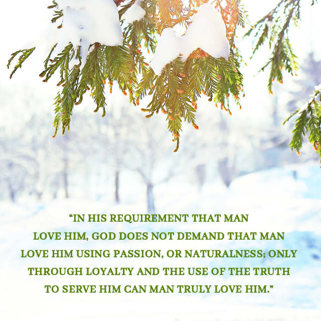 What Is Man's True Love for God