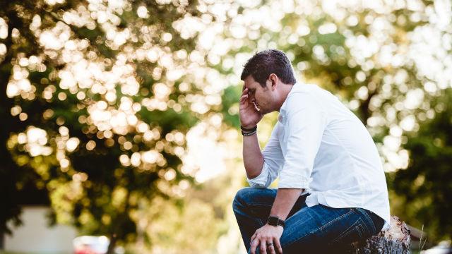 A man is very sad