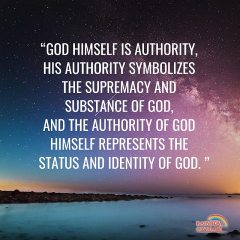 God's Authority Represents His Position and Identity