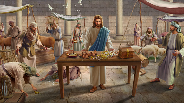 Lord Jesus cleans up the temple