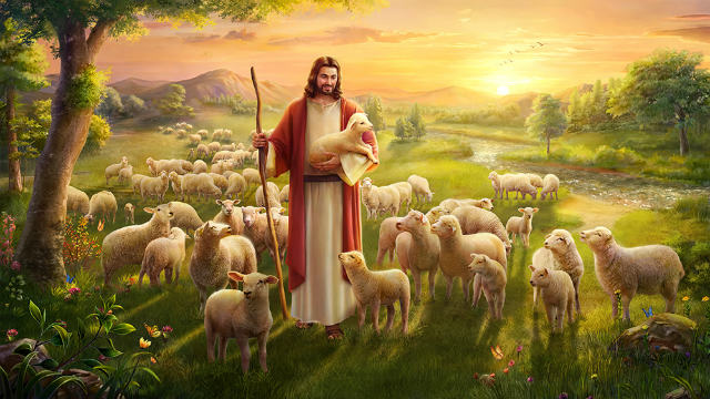 Lord Jesus retrieves the lost sheep