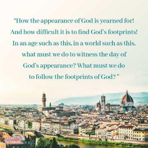 Seek the Appearance of God