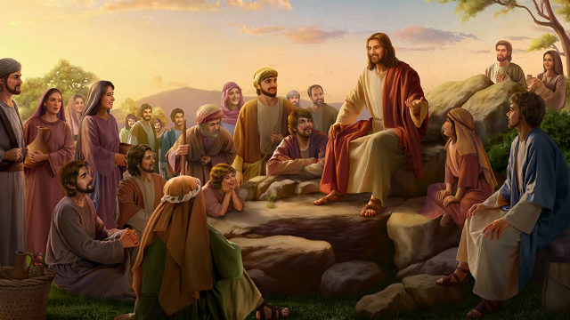 The Lord Jesus preached Sermon on the Mount-The Beatitudes