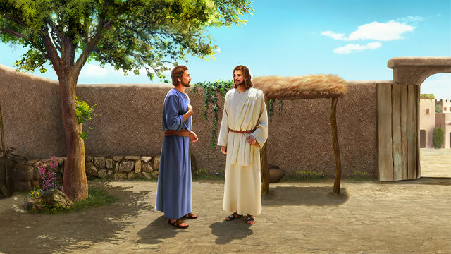 The Lord Jesus and Peter Talk