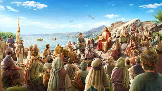 The Lord Jesus preached by the sea