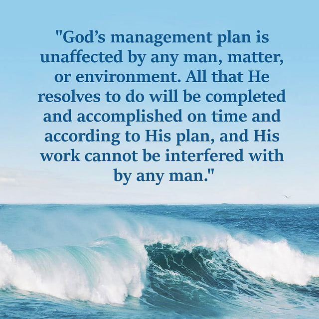 God's Work Cannot Be Interfered With by Any Man