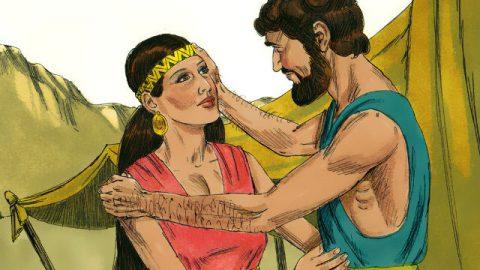Isaac Marries Rebekah - Bible Story