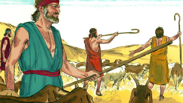 Jacob prepares present for Esau
