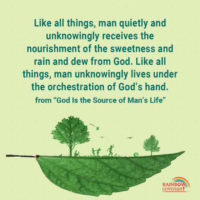 Man and All Things Live Under the Orchestration of God's Hand - Truth Quote