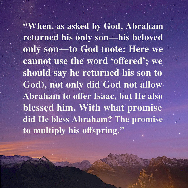 The Sincerity of Abraham Wins God's Blessings