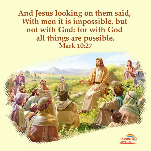 Mark 1027 With God All Things Are Possible Bible Quote