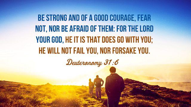 Bible Quotes Deuteronomy 31-6