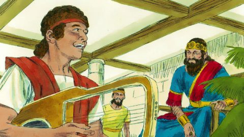 David Played the Harp for Saul - Bible Story