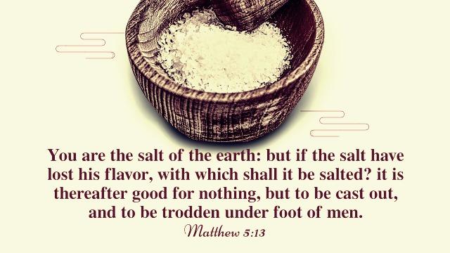 Matthew 5 13 - Being the Salt of the World