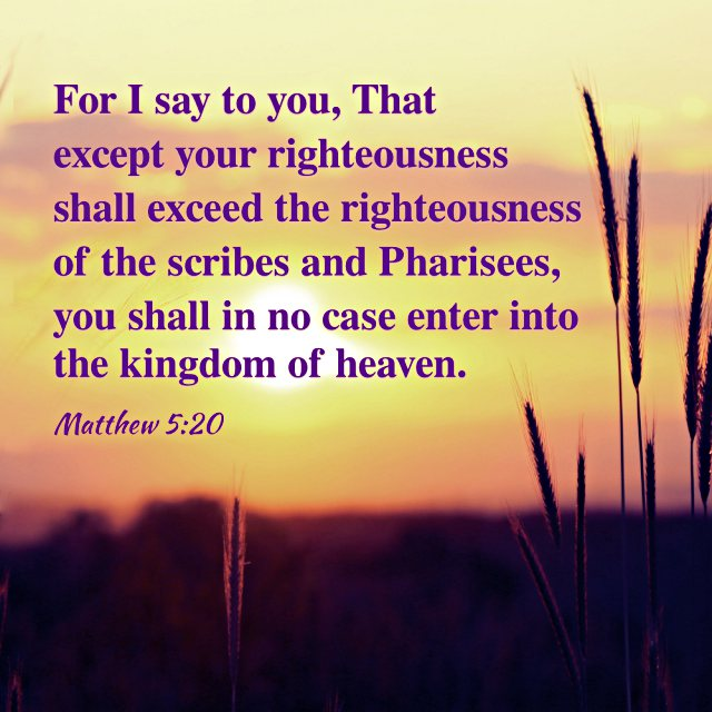 Bible Quote - Matthew 5-20
