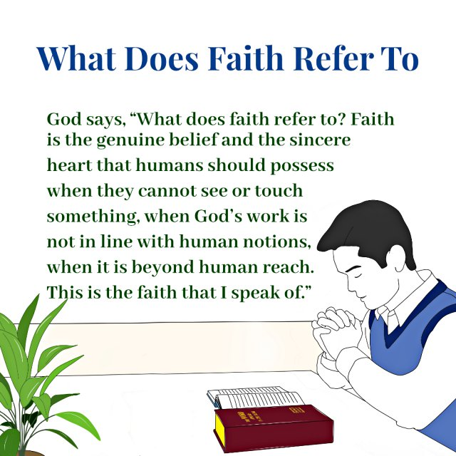 What Does Faith Refer To - Truth Quotes