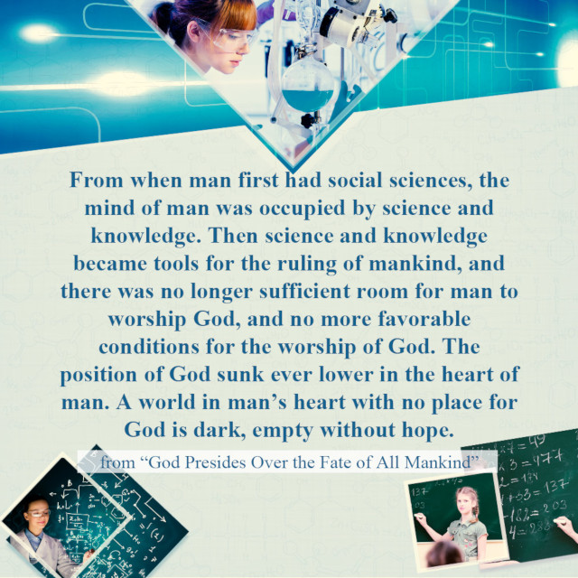 A World in Man's Heart With No Place for God Is Dark - Truth Quote