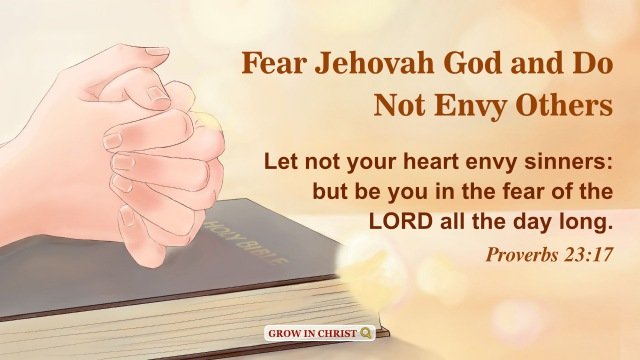 Fear Jehovah God and Do Not Envy Others