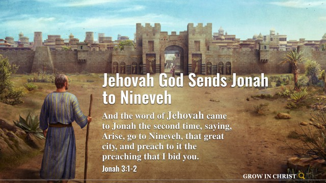 bible verse of the day jehovah god sends jonah to nineveh
